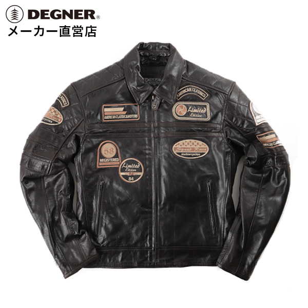 43029c0dc26c DEGNER デグナー for spring and summer for the leatherette jacket motorcycle  leather jacket riders jacket 14WJ-3D (brown) protector equipment security  winter