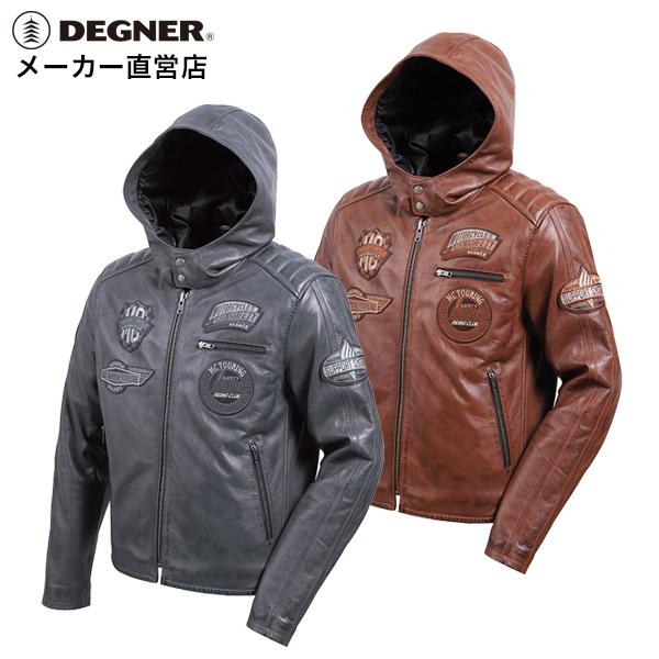 デグナー DEGNER レザー フーディージャケット 20WJ-1 メンズ 秋 冬 革ジャン