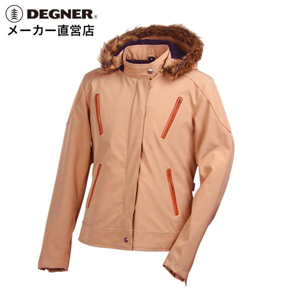 デグナー DEGNER ダウン風ジャケット FR17WJ-9 レディース ベージュ ソフトシェル プロテクター