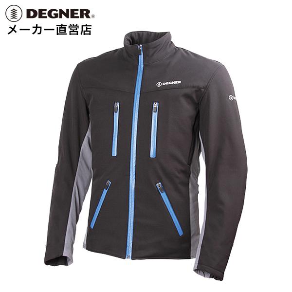 デグナー DEGNER ライダースジャケット 17WJ-10 メンズ ソフトシェル プロテクター CEレベル2 レッド ブルー グレー