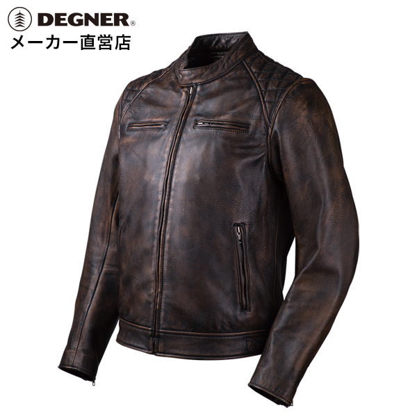 40f76f082 Leatherette jacket leather jacket motorcycle summer spring storm men goat  riders jacket goat leather GOAT LEATHER JACKET tea brown DEGNER デグナー ...