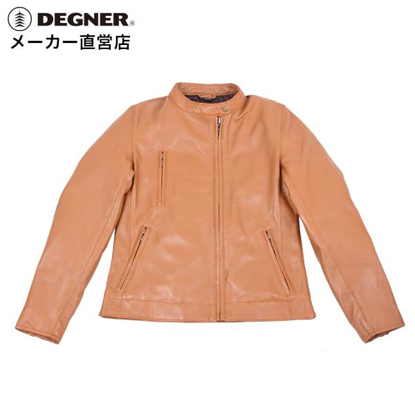 デグナー DEGNER レザージャケット FR18SJ-8 レディースキャメル プロテクター