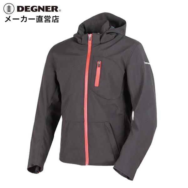 デグナー DEGNER フード付きジャケット 18SJ-4メンズ ソフトシェル プロテクター