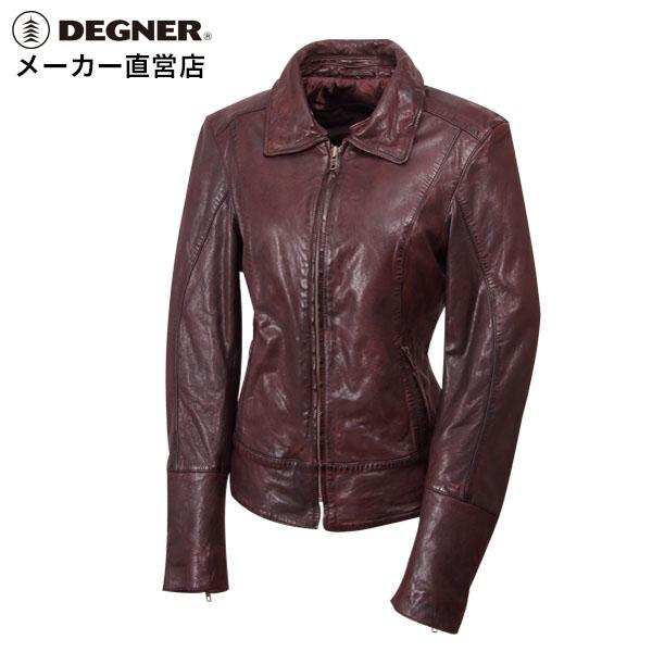 デグナー DEGNER レザージャケット FR17WJ-7 レディース ブラウン プロテクター