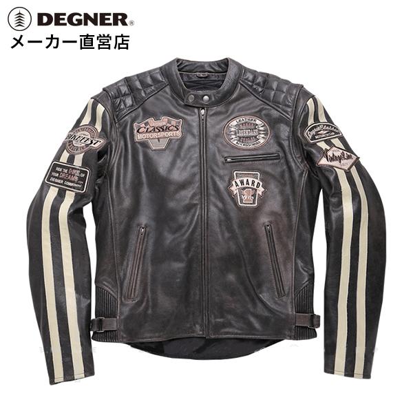 デグナー DEGNER レザージャケット 16WJ-9 メンズ 冬 防風 防寒 ライダース プロテクター 牛革 ヴィンテージ