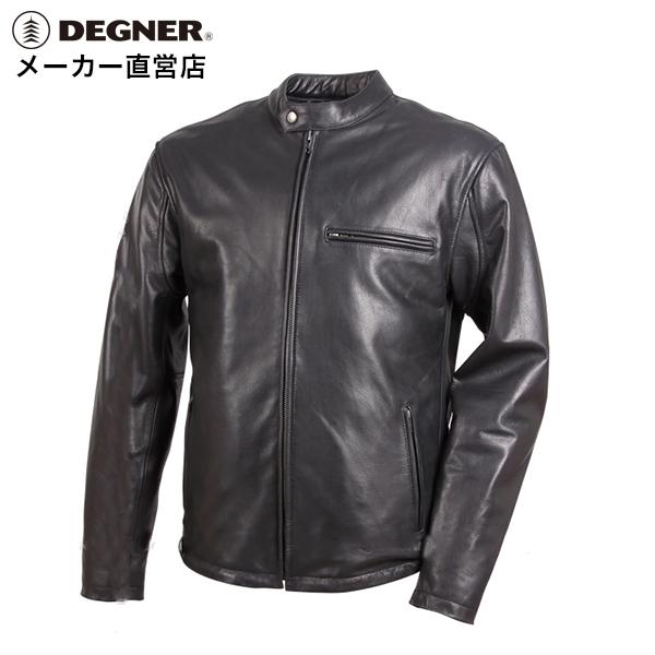 デグナー DEGNER レザージャケット 18WJ-5-BK メンズ シングル 牛革 本革 ブラック