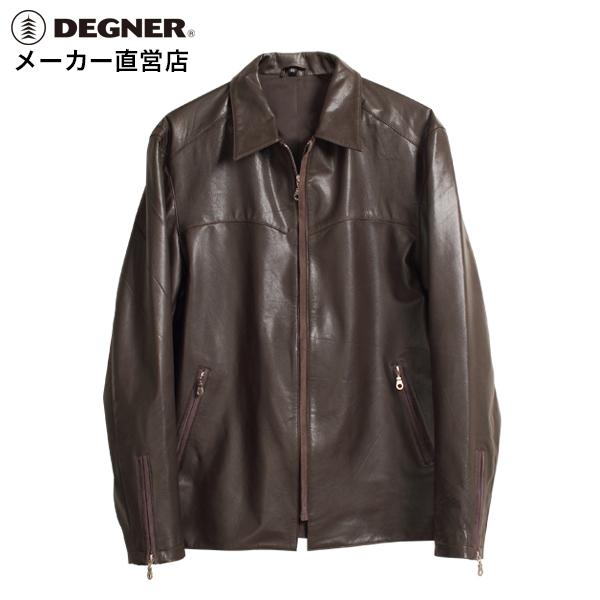 デグナー DEGNER レザーシャツジャケット HSJ-9DA メンズ ブラウン