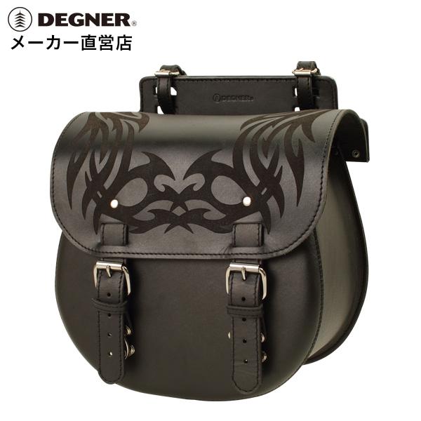 バイク サイドバッグ デグナー ハーレー サイドバック 本革 牛革 フラップデザイン レザーサドルバッグ DEGNER 牛革 ブラック レザーサイドバッグ