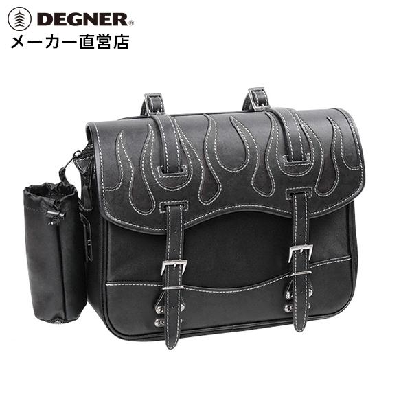 サイドバッグ テキスタイル サイドバック ハーレー アメリカン サイドバッグ バイカーズ バイク サイドバッグ 合皮 鉄馬 ナイロン ツーリング サイドバッグ DEGNER デグナー NB-1F(ブラック) 送料無料