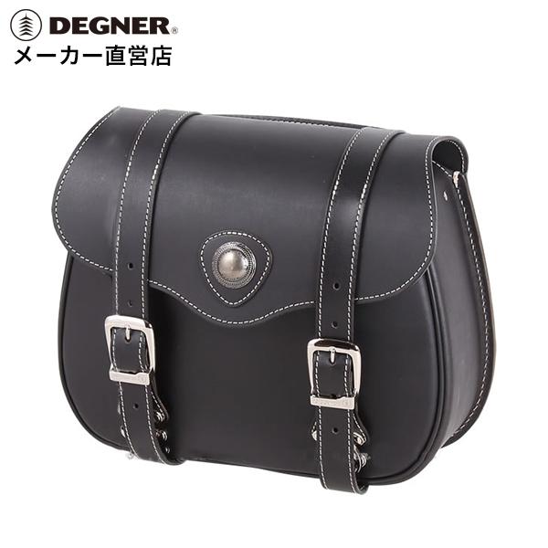 デグナー DEGNER バイク レザー サイドバッグ PRSB-3 ブラック 本革