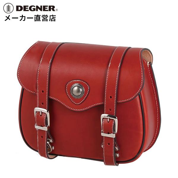 デグナー DEGNER バイク レザー サイドバッグ PRSB-3 ワイン 本革