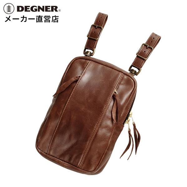 デグナー DEGNER レザーホルスター バッグ W-49 ブラウン 本革