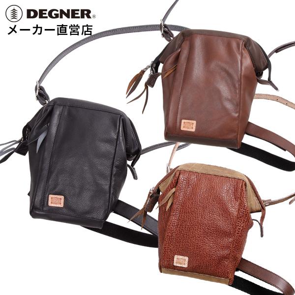 デグナー DEGNER レザー ホルスター バッグ W-101 ブラック がま口 レッグベルト フロントポケット ウエストベルト 本革