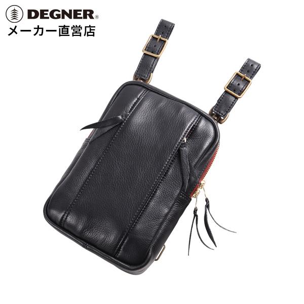 デグナー DEGNER レザーホルスター バッグ W-49A ブラック 本革