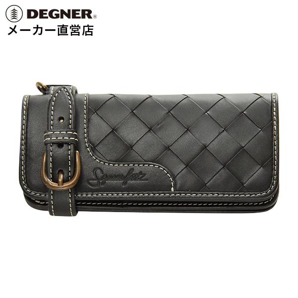 デグナー DEGNER レザーウォレット SFW-3 ブラック バスケット 財布 長財布