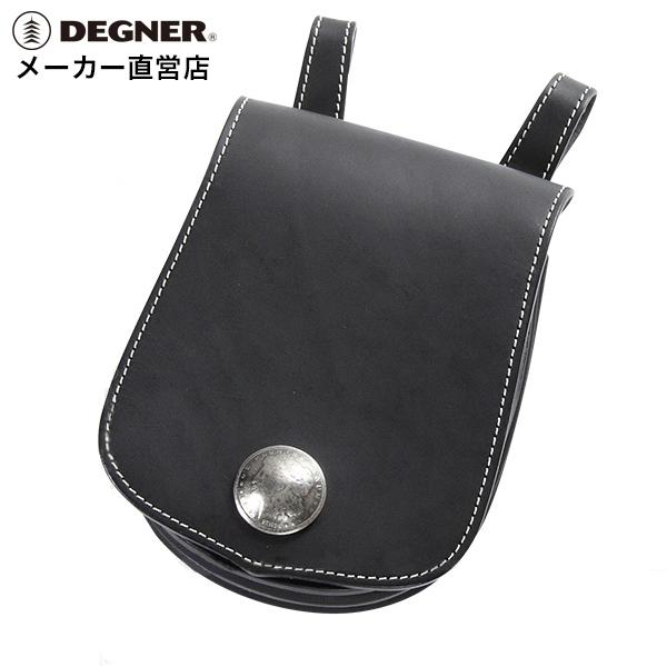 デグナー DEGNER レザー メディスンバッグ W-22A ブラック 本革 小物入れ