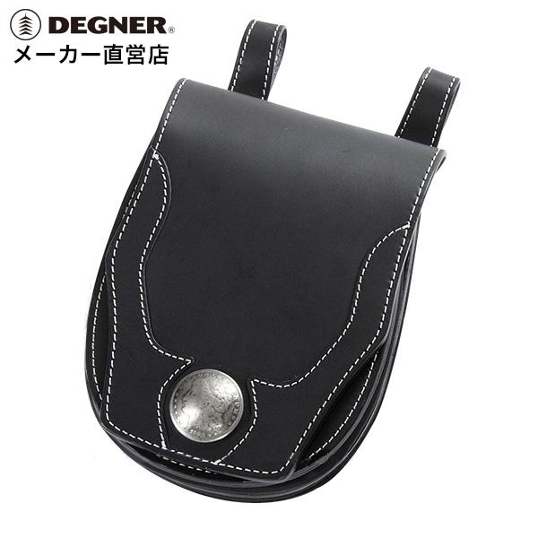 デグナー DEGNER レザー メディスンバッグ W-24A ブラック 本革 小物入れ コンチョ
