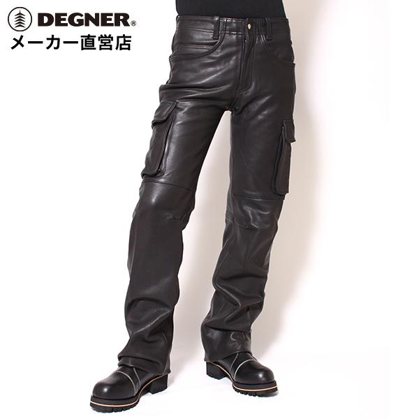デグナー DEGNER レザーカーゴパンツ DP-17A メンズ ブラック 牛革