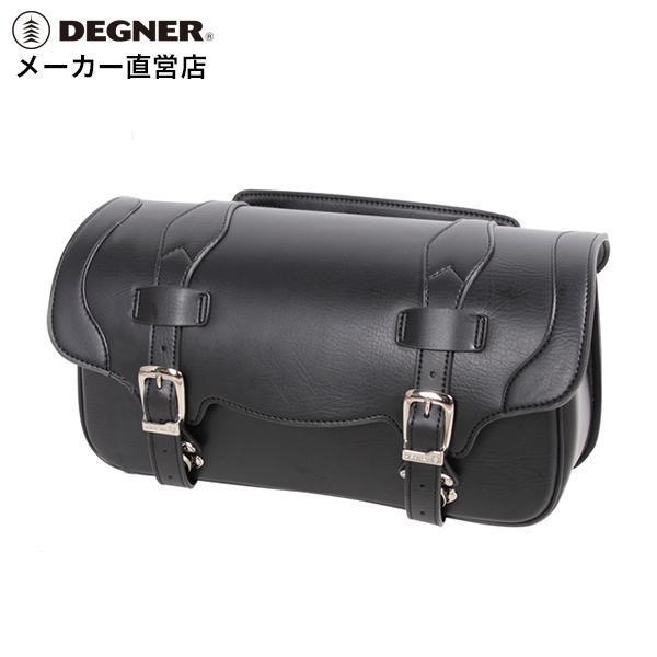 ウインカー除け サイドバッグ ハーレー バイク 荷物 送料無料 鉄馬  デグナー DEGNER サドルバッグ DSB-8 ブラック シンセティックレザー 合皮