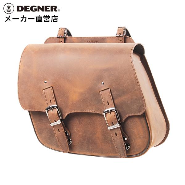 デグナー Degner Motorcycle Leather Side Bag Sb 60in Brown Genuine