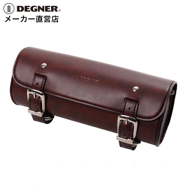 送料無料 デグナー ハーレー アメリカン 鉄馬 シンセティックレザー ツールバッグ 堅牢 DTB-2(ブラウン)