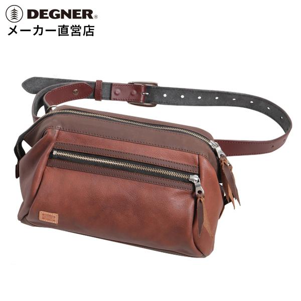 デグナー DEGNER レザー ワンショルダーボディバッグ W-102 ブラウン 本革