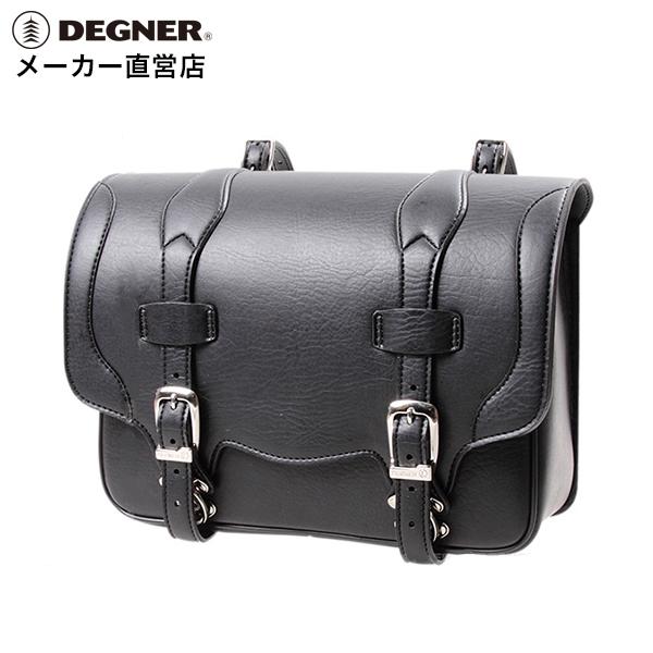 【送料無料】デグナー ハーレー バイク シンセティックレザー 合皮 サドルバッグ サイドバッグ アメリカン 鉄馬 DSB-1(ブラック)