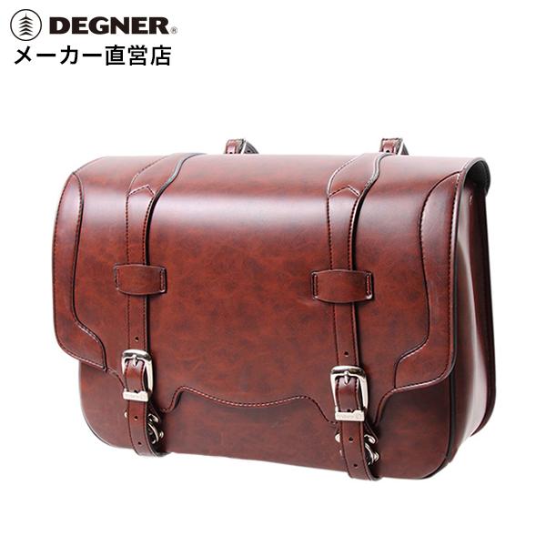 デグナー DEGNER サドルバッグ DSB-3 ブラウン シンセティックレザー 合皮