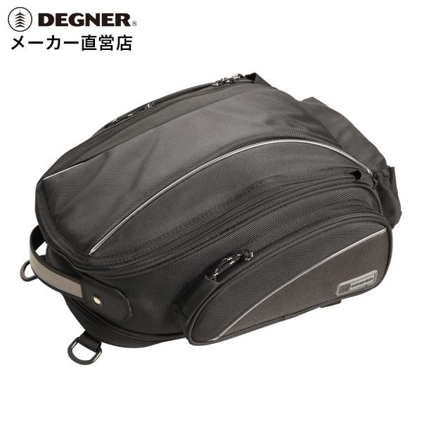シート バッグ バイク ツーリング 簡単装着 コンパクト 数量限定 NB-119 デグナー レインカバー 市場 ブラック DEGNER シートバッグ