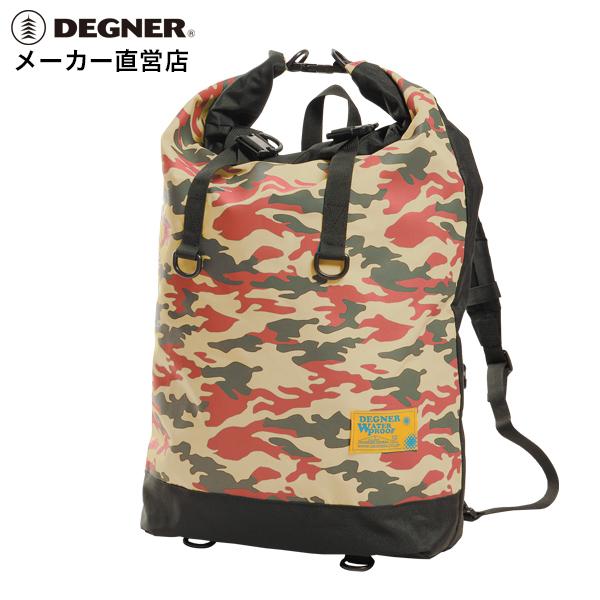 デグナー DEGNER 防水リュックサックNB-122 レッドカモ 大容量
