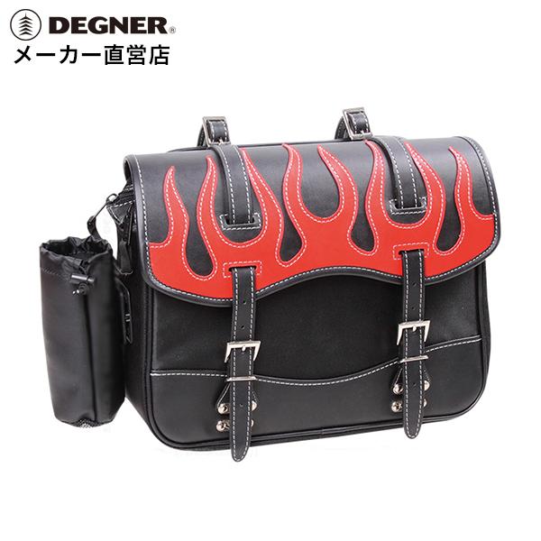 デグナー DEGNER サイドバック NB-1F レッド ファイアーパターン