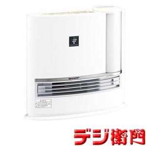 シャープ セラミックファンヒーター HX-H120-W アイボリーホワイト 加湿機能付 /【Mサイズ】