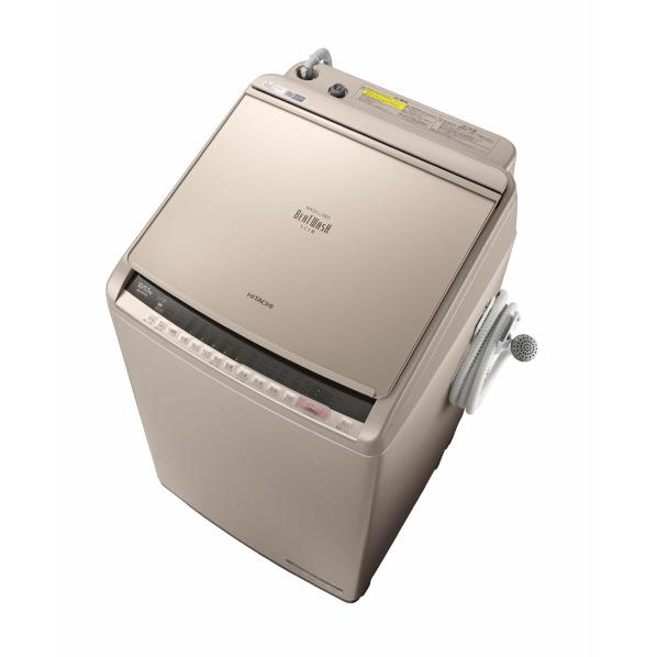 日立 10.0kg洗濯乾燥機 ビートウォッシュ シャンパン BWDV100CN ※配送・設置は、最寄のエディオン配送センターよりお伺いいたします。[全国送料無料 ※一部地域を除く]