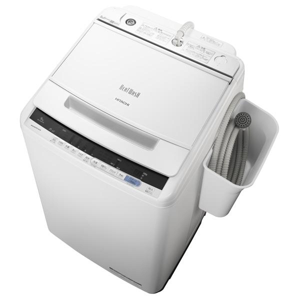 日立 9.0kg全自動洗濯機 オリジナル ビートウォッシュ ホワイト BWV90CE6W ※配送・設置は、最寄のエディオン配送センターよりお伺いいたします。[全国送料無料 ※一部地域を除く]