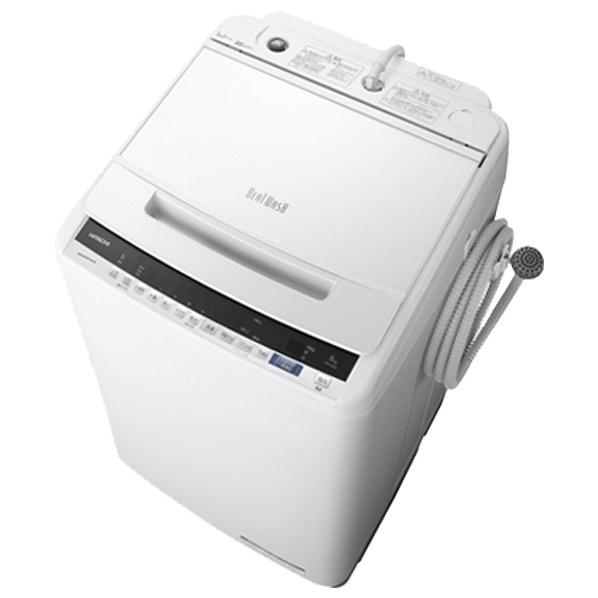 日立 BW-V80E W 8.0kg全自動洗濯機 ビートウォッシュ ホワイト BWV80EW ※配送設置:最寄のエディオン商品センターよりお伺い致します。[※サービスエリア外は別途配送手数料が掛かります]