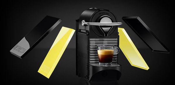 (お取り寄せ)Nestle/ネスレ ネスプレッソカプセル専用コーヒーメーカー PIXIE Clips ピクシークリップ C60BY ブラック&レモンイエロー