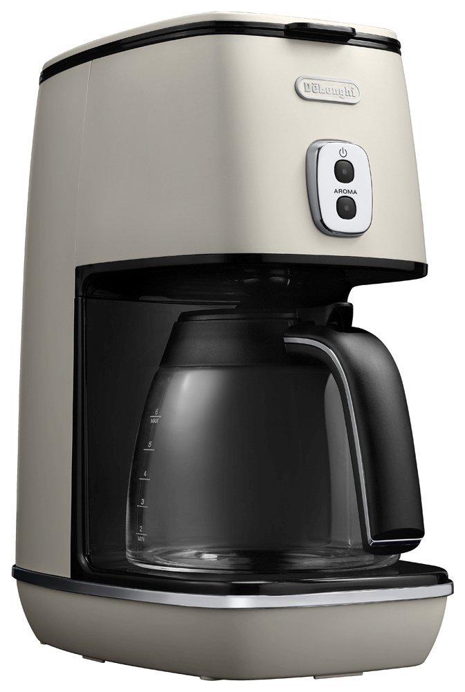 デロンギ ディスティンタコレクション ドリップコーヒーメーカー ピュアホワイト ICMI011J-W