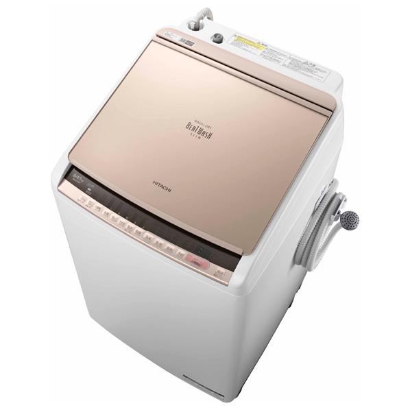 (お取り寄せ)日立 8.0kg洗濯乾燥機 ビートウォッシュ シャンパン BWDV80CN ※配送・設置は、最寄のエディオン配送センターよりお伺いいたします。[全国送料無料 ※一部地域を除く]