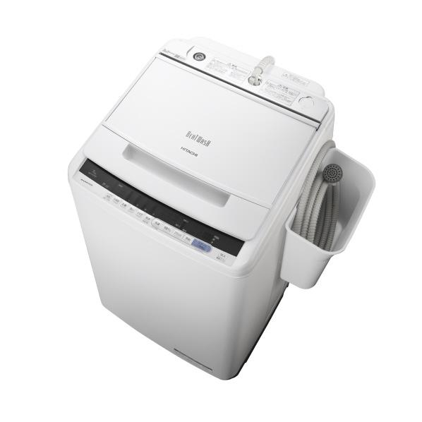 日立 7.0kg全自動洗濯機 オリジナル ビートウォッシュ ホワイト BWV70CE6W ※配送・設置は、最寄のエディオン配送センターよりお伺いいたします。[全国送料無料 ※一部地域を除く]