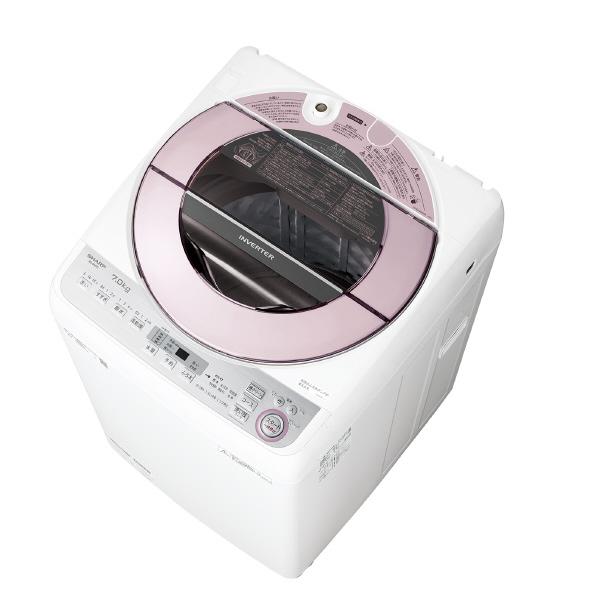 (お取り寄せ)シャープ 7.0kg全自動洗濯機 ピンク系 ESGV7CP ※配送・設置は、最寄のエディオン配送センターよりお伺いいたします。[全国送料無料 ※一部地域を除く]