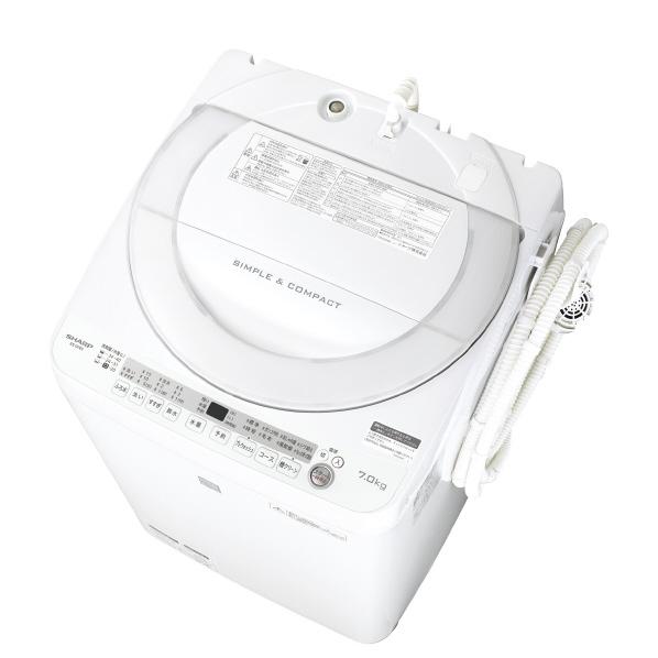 シャープ 7.0kg全自動洗濯機 keyword キーワードホワイト ESG7E5KW ※配送・設置は、最寄のエディオン配送センターよりお伺いいたします。[全国送料無料 ※一部地域を除く]