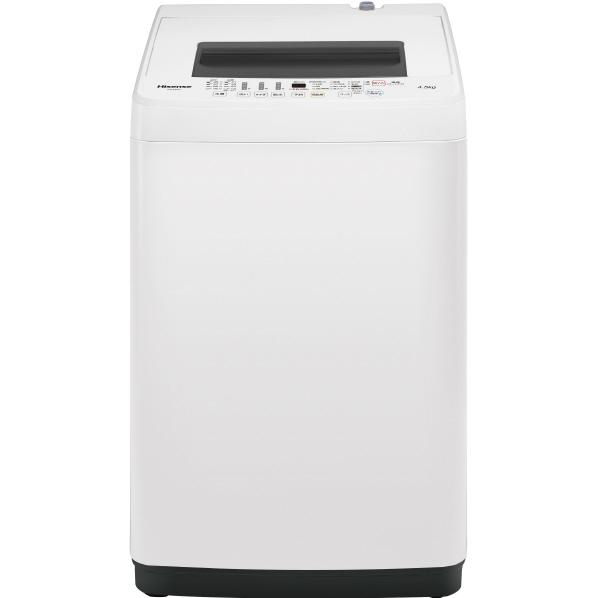 ハイセンス HW-E4502 4.5kg全自動洗濯機 オリジナル ホワイト [HWE4502] ※配送設置:最寄のエディオン商品センターよりお伺い致します。[※サービスエリア外は別途配送手数料が掛かります]