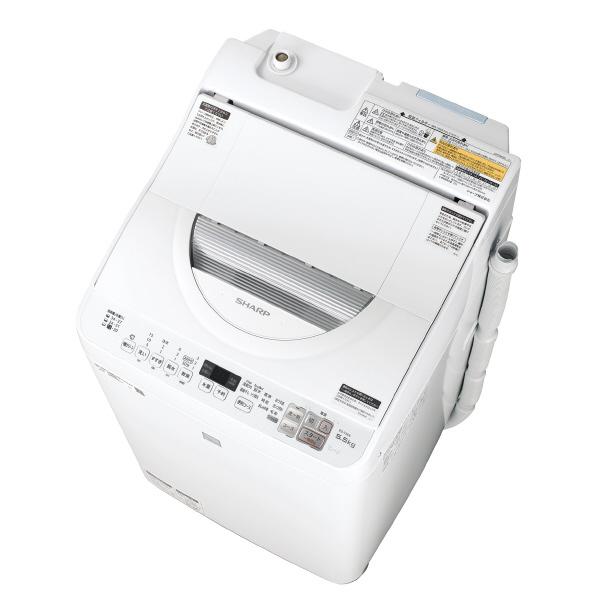 シャープ 5.5kg洗濯乾燥機 keyword キーワードホワイト EST5E6KW ※配送・設置は、最寄のエディオン配送センターよりお伺いいたします。[全国送料無料 ※一部地域を除く]