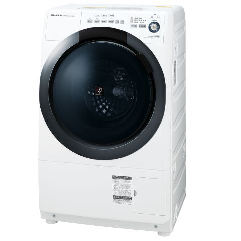 (納期1ヶ月~)シャープ 【左開き】7.0kgドラム式洗濯乾燥機 ES-S7D-WL (ホワイト系・左開き)[ESS7DWL] ※配送設置:最寄のエディオン商品センターよりお伺い致します。[※サービスエリア外は別途配送手数料が掛かります]
