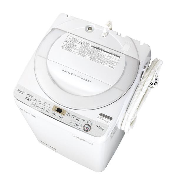 シャープ 7.0kg全自動洗濯機 ホワイト ESGE7CW ※配送・設置は、最寄のエディオン配送センターよりお伺いいたします。[全国送料無料 ※一部地域を除く]