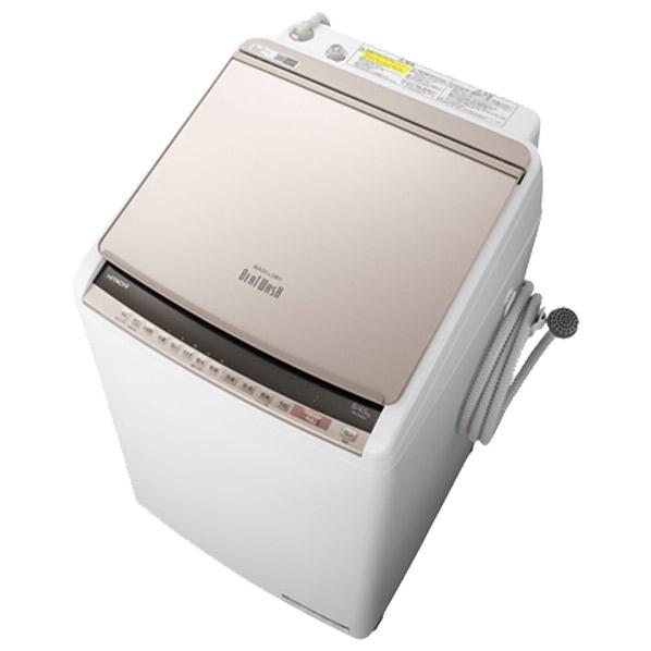 日立 BW-DV80E N 8.0kg洗濯乾燥機 ビートウォッシュ シャンパン [BWDV80EN] ※配送設置:最寄のエディオン商品センターよりお伺い致します。[※サービスエリア外は別途配送手数料が掛かります](搬入不可等によるキャンセルは出来ません)