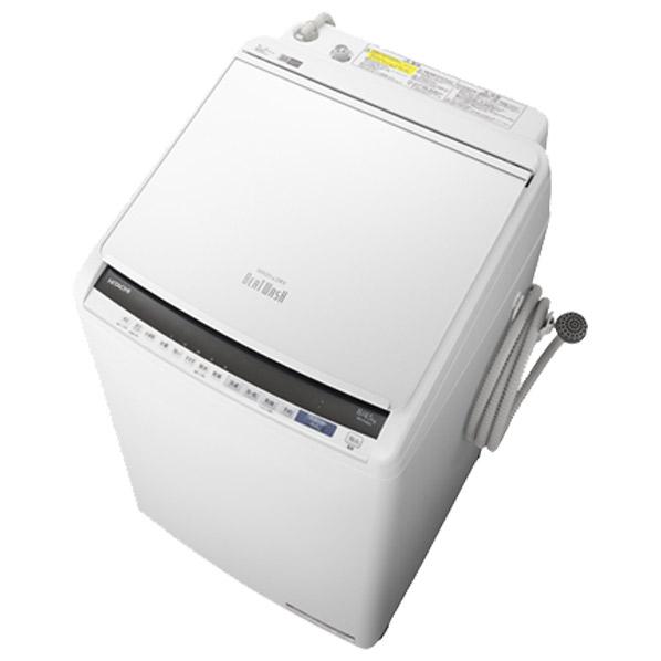 日立 BW-DV80E W 8.0kg洗濯乾燥機 ビートウォッシュ ホワイト [BWDV80EW] ※配送設置:最寄のエディオン商品センターよりお伺い致します。[※サービスエリア外は別途配送手数料が掛かります]
