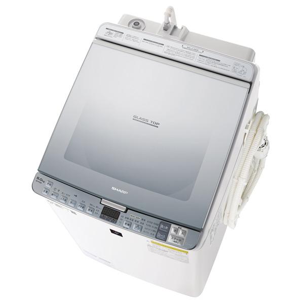 シャープ 8.0kg洗濯乾燥機 シルバー ESPX8DS ※配送設置:最寄のエディオン商品センターよりお伺い致します。[※サービスエリア外は別途配送手数料が掛かります]