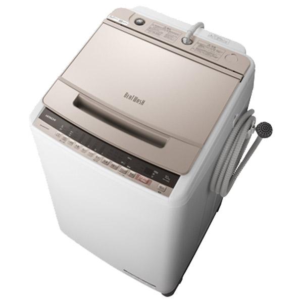 日立 BW-V100E N 10.0kg全自動洗濯機 ビートウォッシュ シャンパン [BWV100EN] ※配送設置:最寄のエディオン商品センターよりお伺い致します。[※サービスエリア外は別途配送手数料が掛かります](搬入不可等によるキャンセルは出来ません)