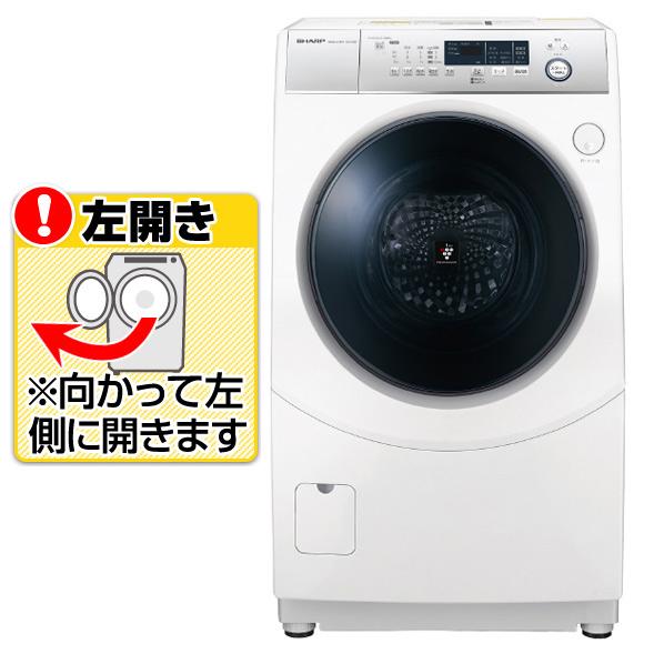 シャープ 【左開き】10.0kgドラム式洗濯乾燥機 ホワイト ESH10DWL ※配送設置:最寄のエディオン商品センターよりお伺い致します。[※サービスエリア外は別途配送手数料が掛かります](搬入不可等によるキャンセルは出来ません)
